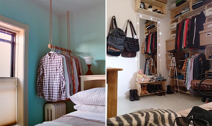 10 inspirações de closets pequenos, charmosos e baratinhos (que você mesma pode fazer) 4