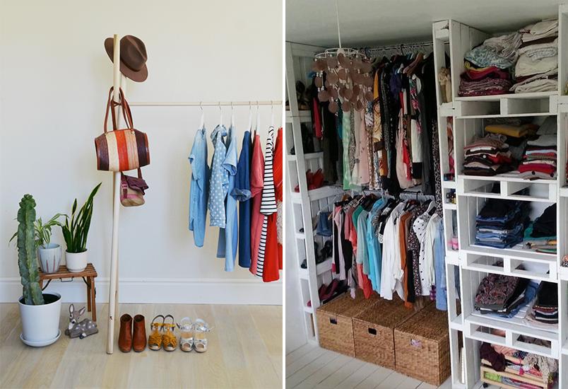 10 inspirações de closets pequenos, charmosos e baratinhos (que você mesma pode fazer) 6