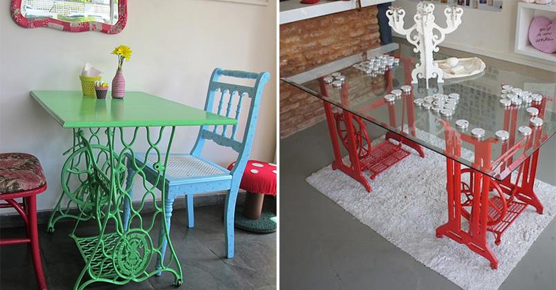 decorar cozinha velha : decorar cozinha velha:10 maneiras de reaproveitar o pé da máquina de costura na