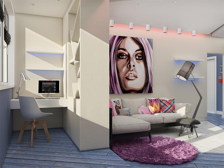 Pequeno apartamento lindo e inspirador 1