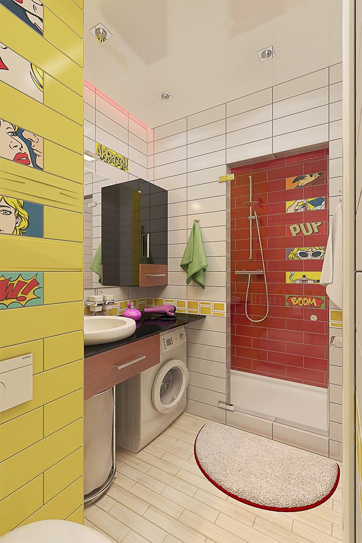 Pequeno apartamento lindo e inspirador 10