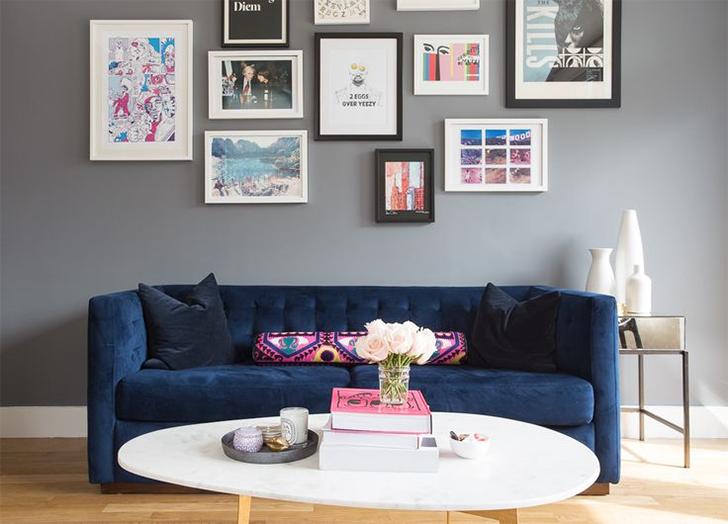 como decorar a parede atrás do sofá 5