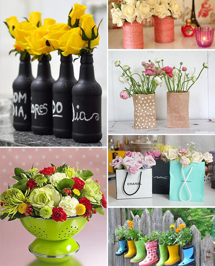 diy vaso de flor feito com materiais reciclados 4
