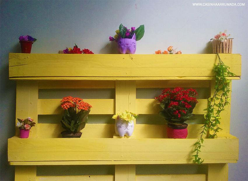 floreira feita com pallets