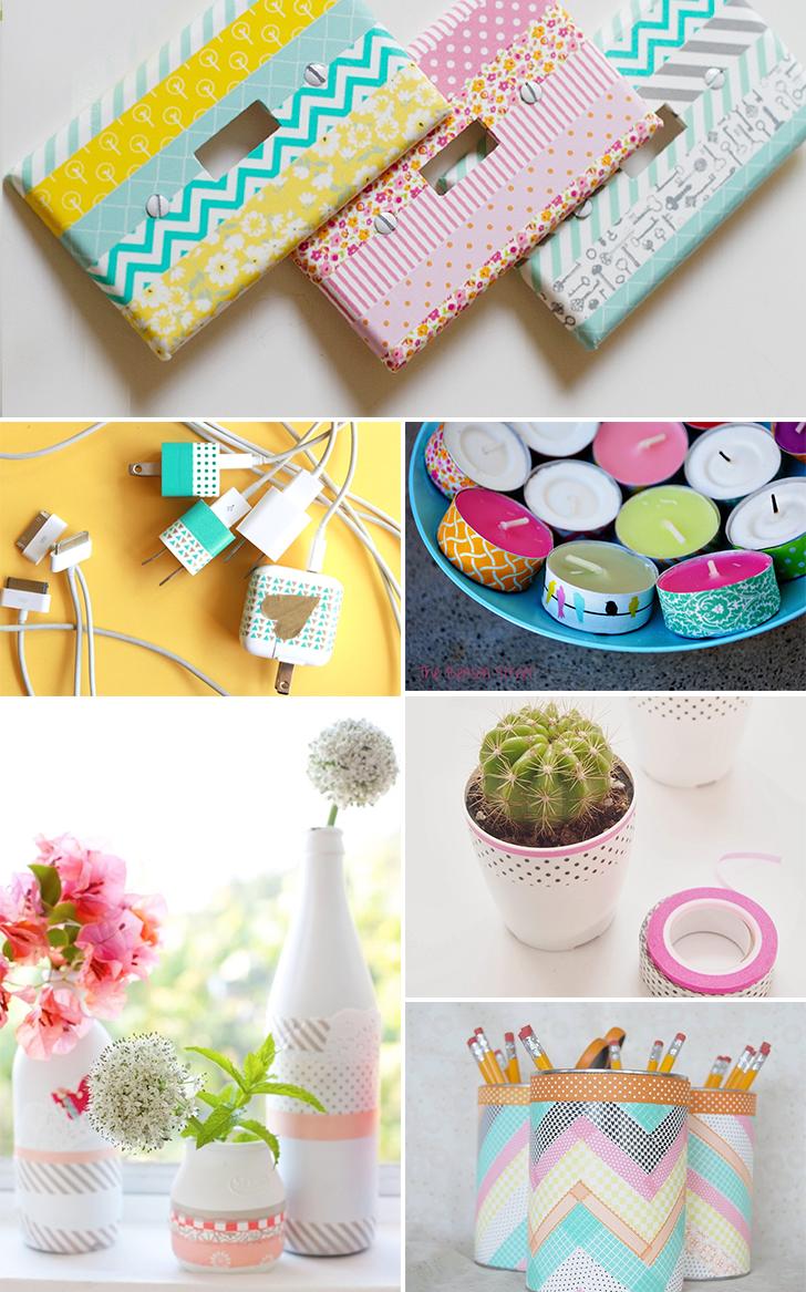 ideias para decorar usando washi tape 3 - washi tape obejtos