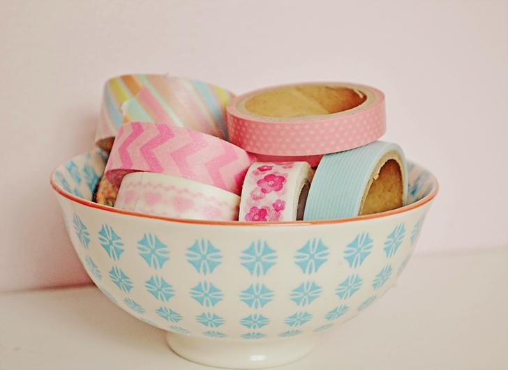 ideias para decorar usando washi tape