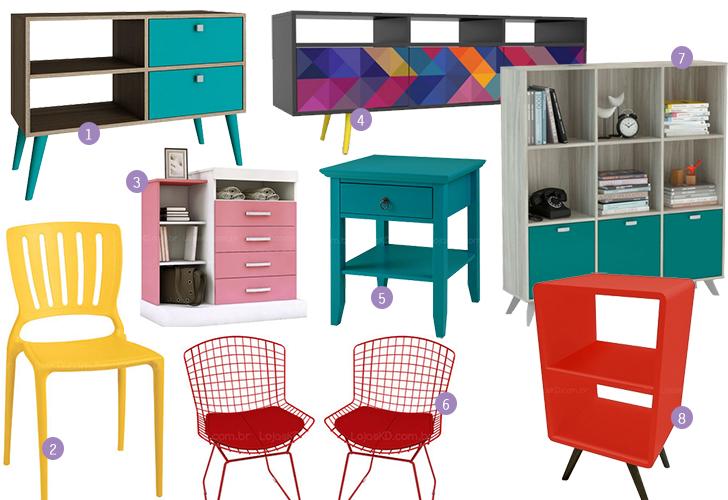 móveis coloridos na decoração 10