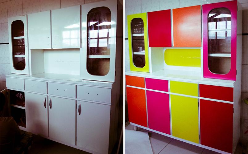 móveis coloridos na decoração 9