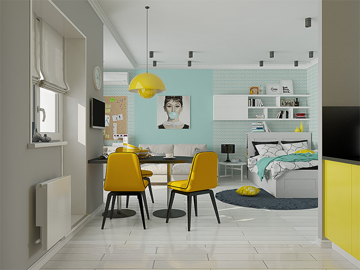 Arquivo para kitnet casinha arrumada for Look 4 design salon