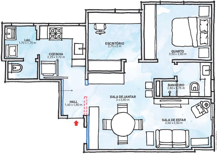 pequeno apartamento morar sozinha charmoso e confortável 10