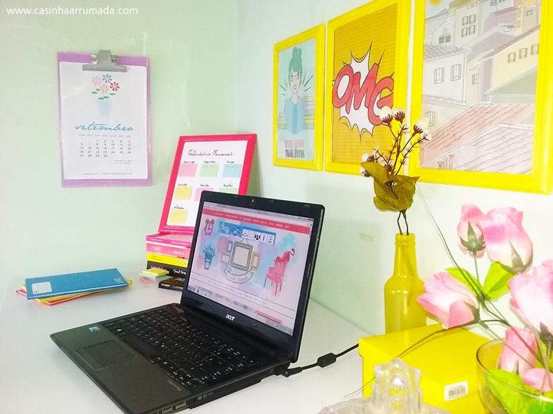 Como decorei o meu home office com menos de R$60,00
