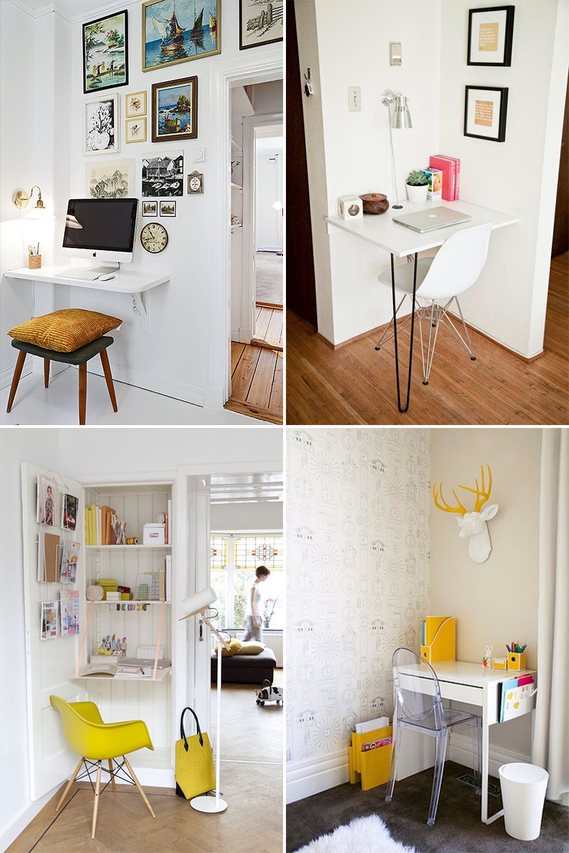 Como montar um home office em um espa o pequeno casinha - Escritorios para casas pequenas ...