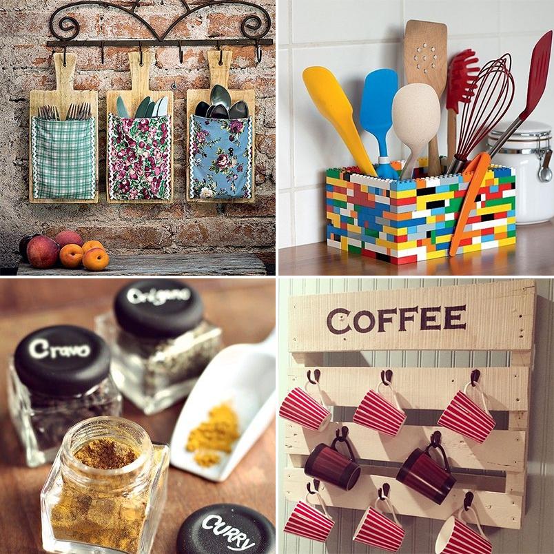 DIY 24 ideias criativas e econômicas para decorar e organizar a cozinha  Ca # Decorar Cozinha Diy