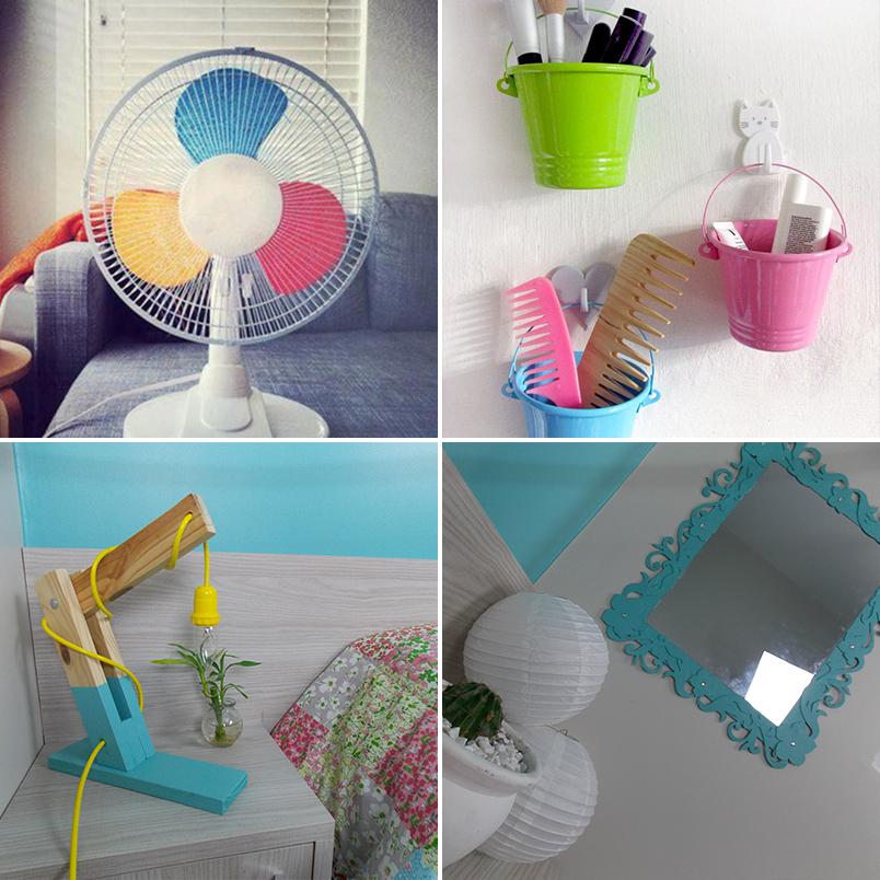 DIY 24 ideias criativas e econômicas para decorar e organizar o quarto  Cas