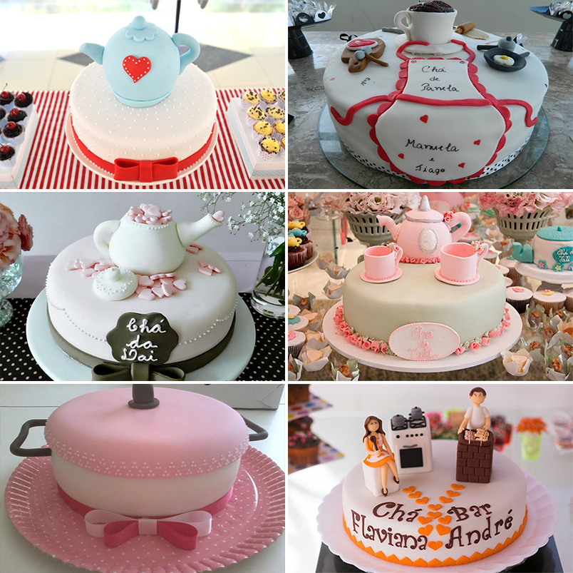 inspirações e ideias de decoração para chá de panela chá de cozinha 1 - bolo