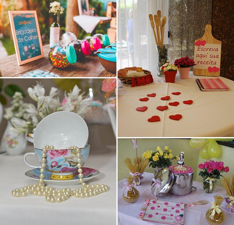 inspirações e ideias de decoração para chá de panela chá de cozinha 4 - decoração 2