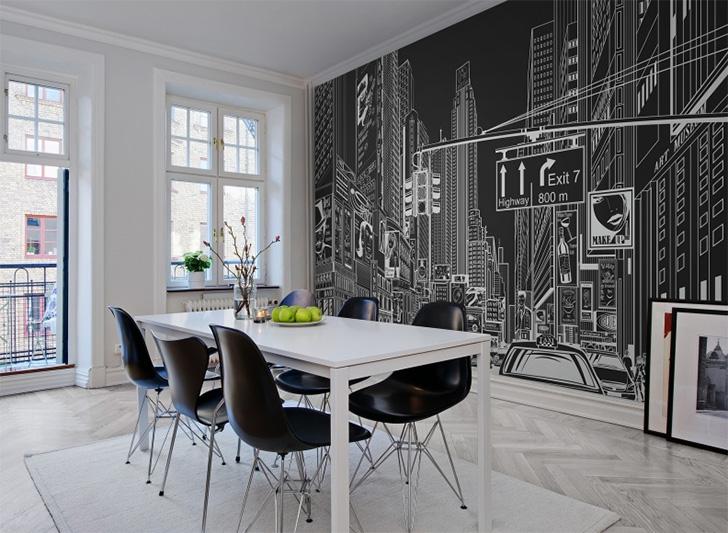 20 ambientes com papel de parede para você se inspirar 12