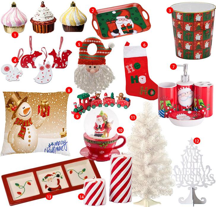 compras enfeites decoração de natal