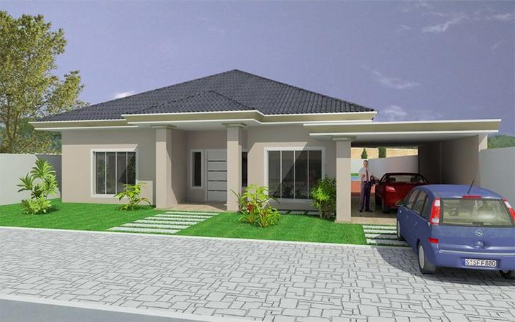 15 fachadas de casas t rreas para voc se inspirar dicas for Modelo de casa segundo piso