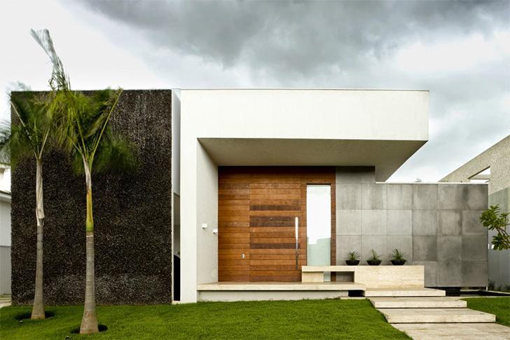15 fachadas de casas t rreas para voc se inspirar dicas for Frentes de casas minimalistas