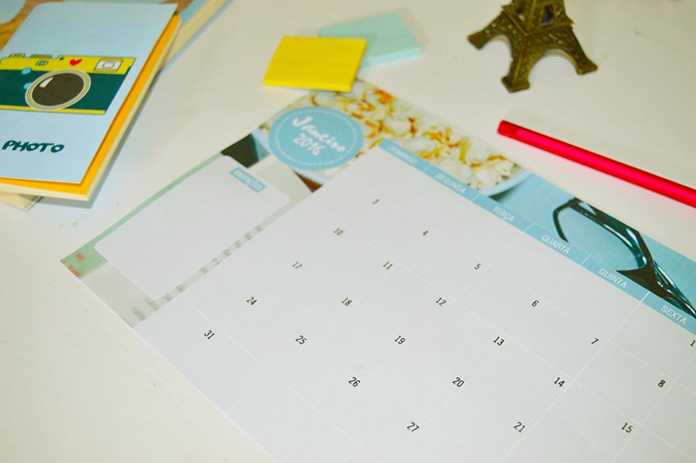 Calendário 2016 - Janeiro - 2