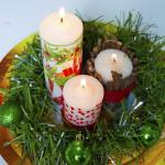 Velas decoradas para o Natal 1