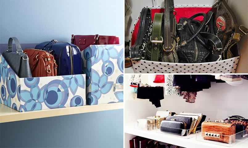 Como guardar e organizar bolsas casinha arrumada - Como guardar los bolsos ordenados ...