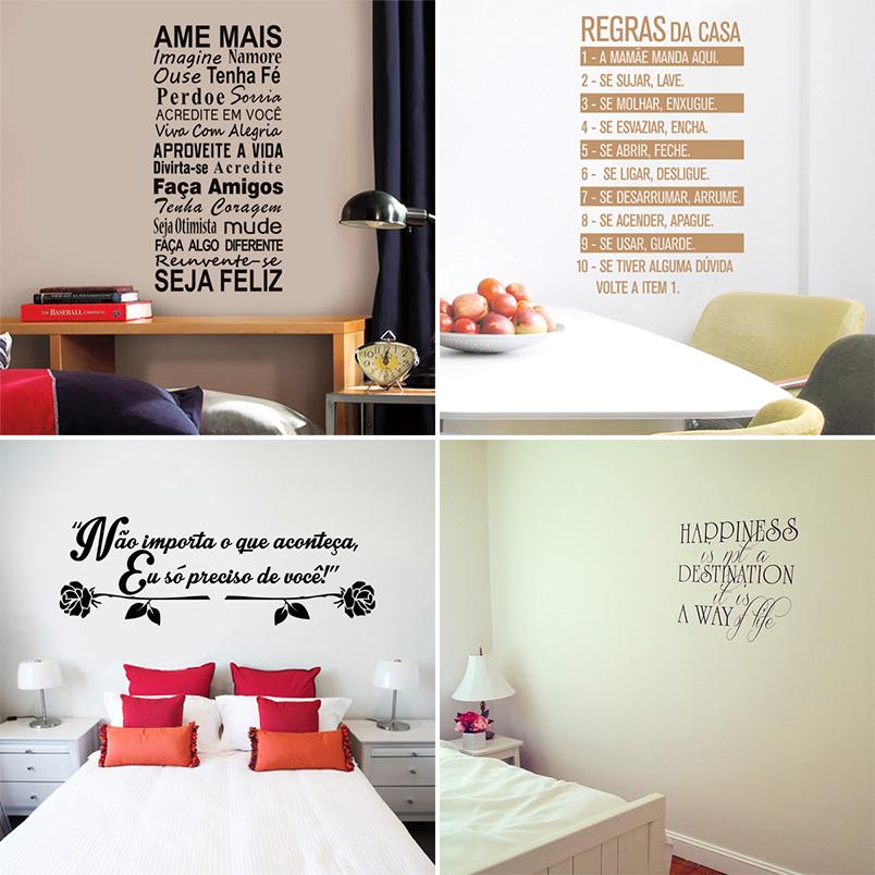 decoração frases na parede 1