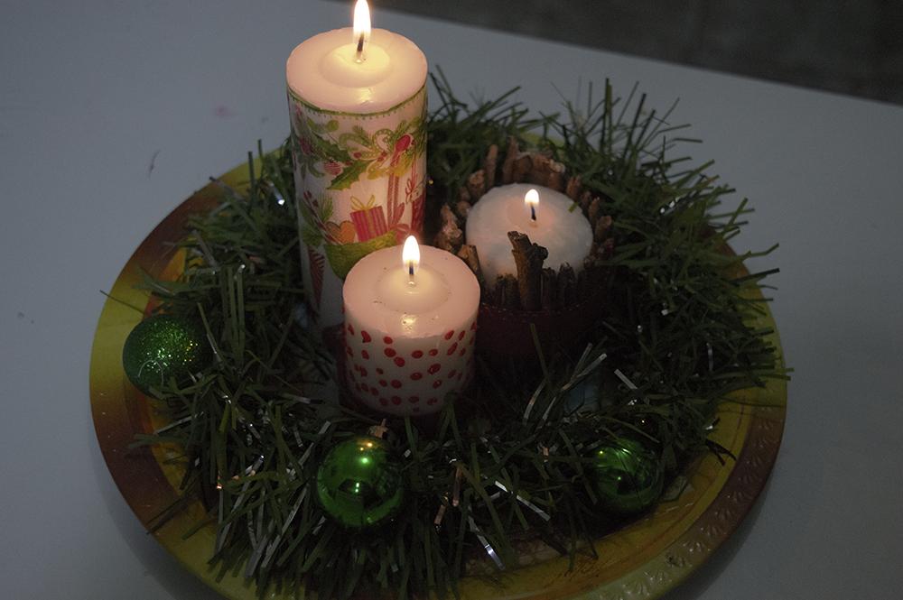 velas decoradas para o Natal 2