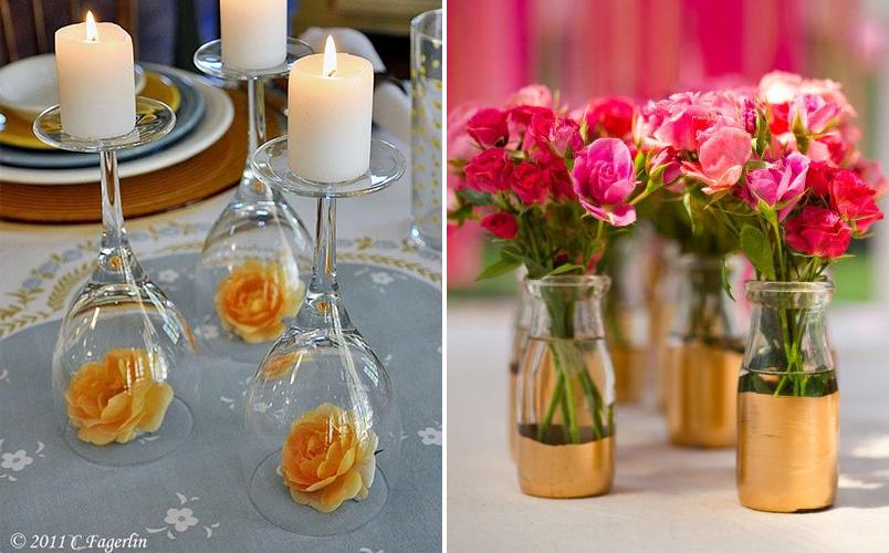 10 ideias diferentes de arranjos de mesa para casamentos que você mesma pode fazer 4