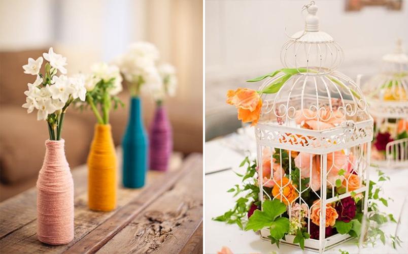 10 ideias diferentes de arranjos de mesa para casamentos que você mesma pode fazer 6