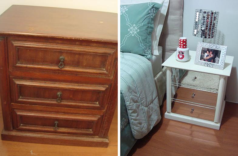 reformar móveis antigos criado-mudo reformado