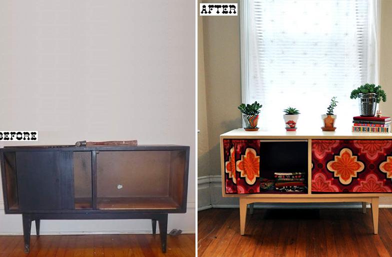 reformar móveis antigos aparador reformado