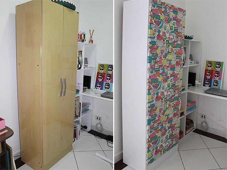 reformar móveis antigos guarda-roupa reformado