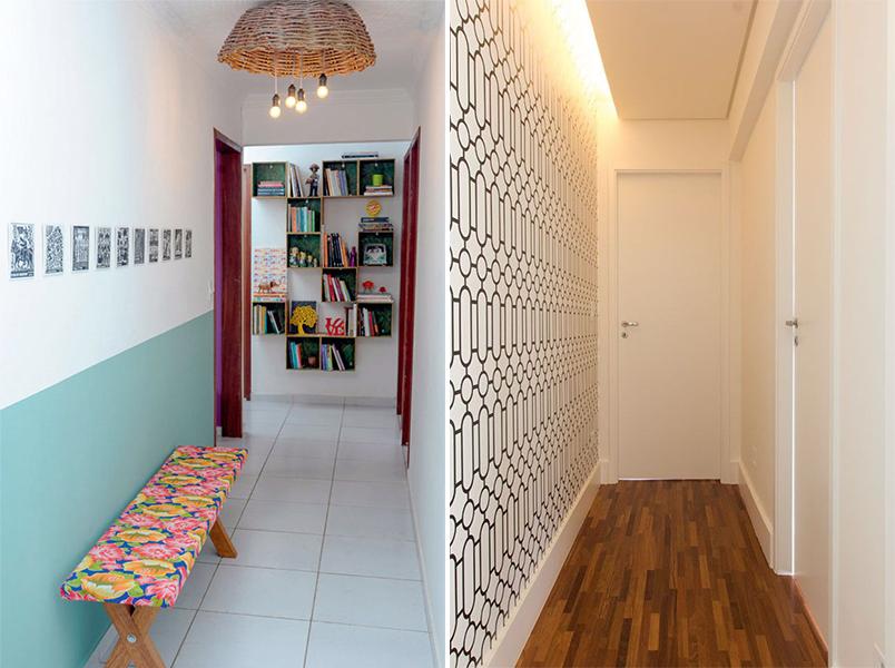 5 ideias criativas para decorar o corredor da sua casa for Pintura para paredes 2016