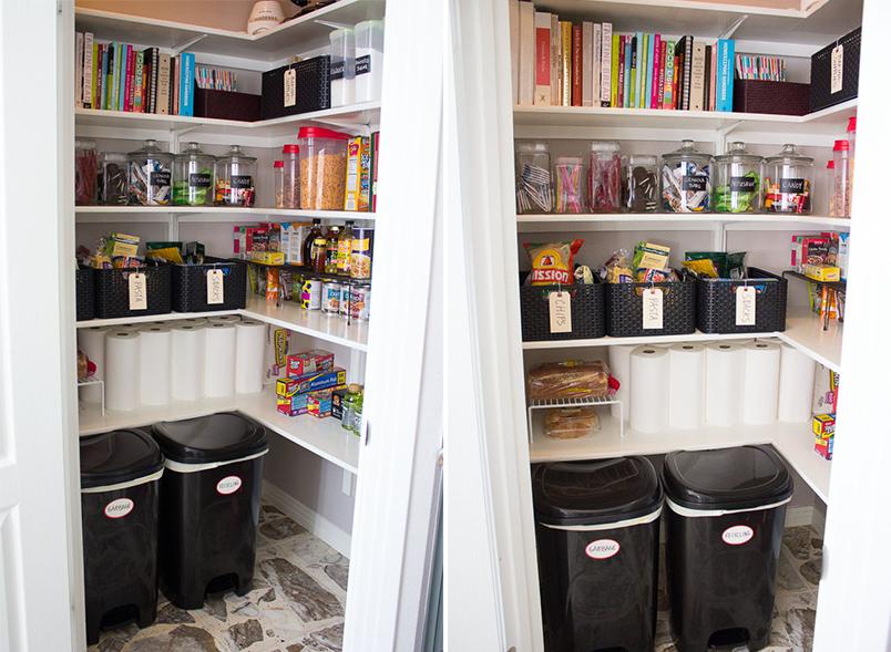 Como organizar a despensa ou o armário da cozinha  Casinha Arrumada # Como Organizar Armario De Cozinha