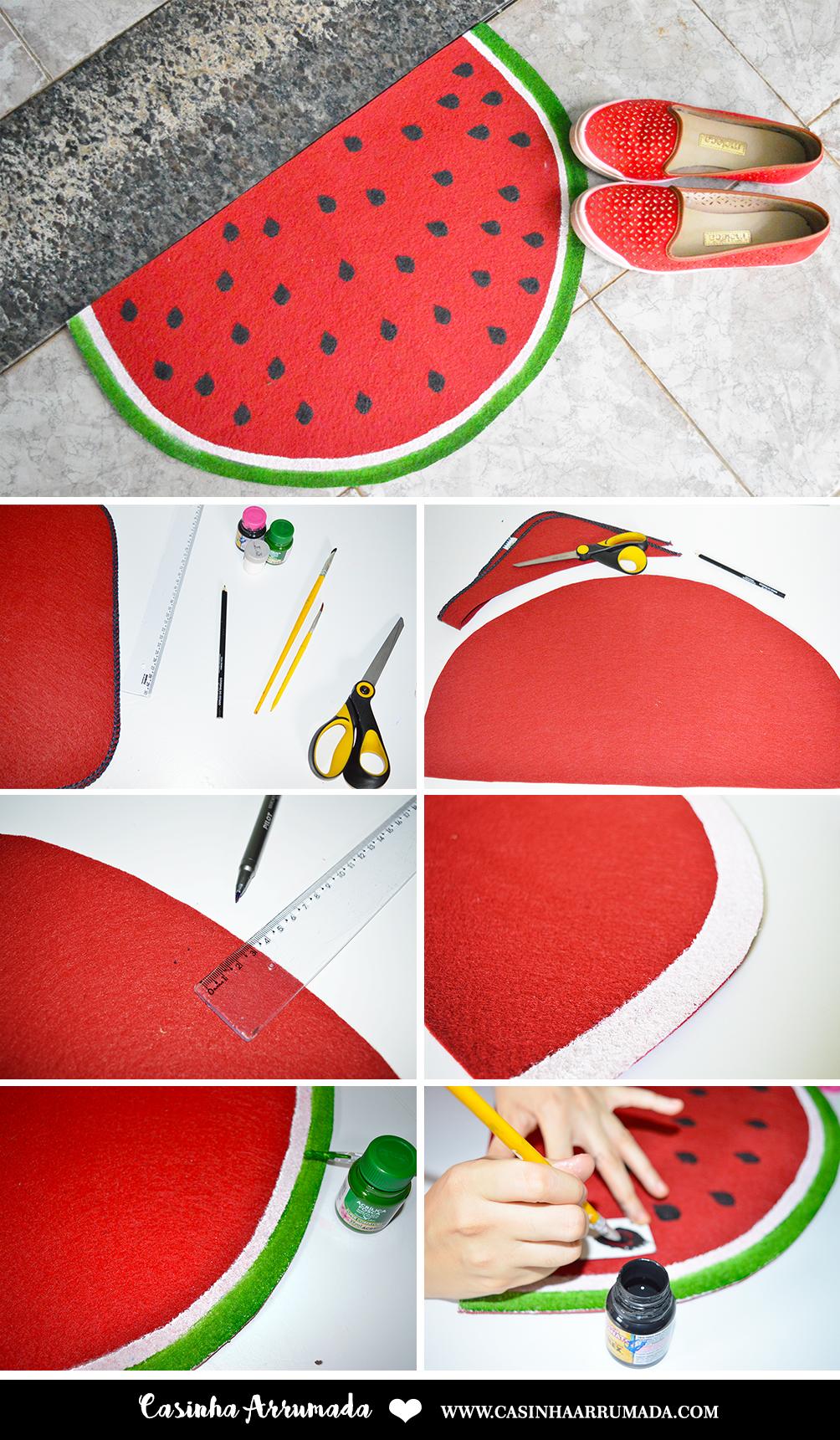 DIY: Tapete Fruta - Melancia