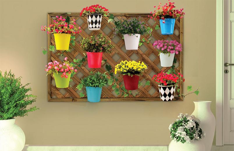 ideias baratas para jardim vertical : ideias baratas para jardim vertical:Para a montagem de um jardim vertical de treliças metálicas ou de