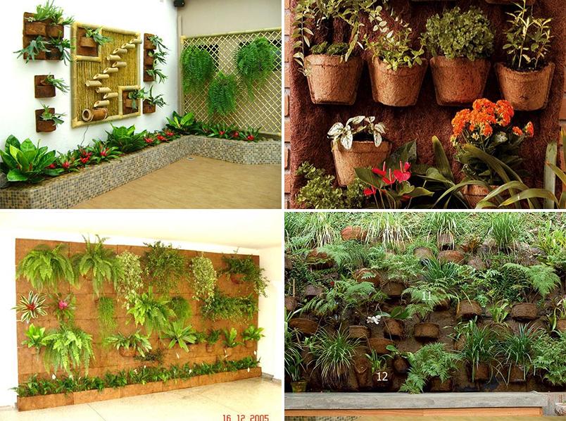 fazer jardim vertical garrafa pet:Jardim Vertical: ideias para montar o seu em casa – Casinha Arrumada