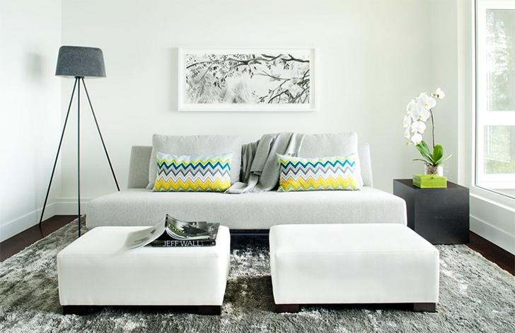 sala de estar sofá sem braços 1