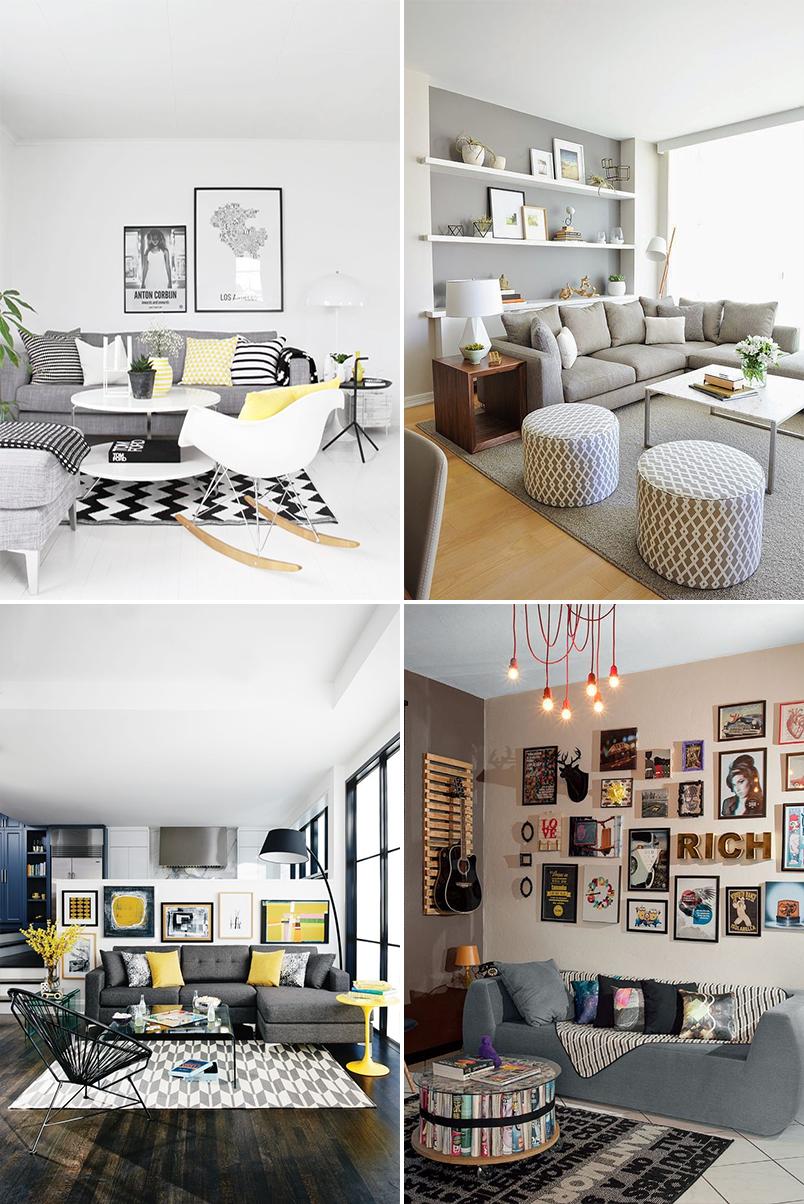 Cinza Na Sala De Estar ~ Sofá cinza na decoração da sala de estar  Casinha Arrumada