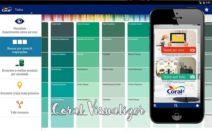 Aplicativos que são aliados na hora de decorar a casa - Coral Visualizer