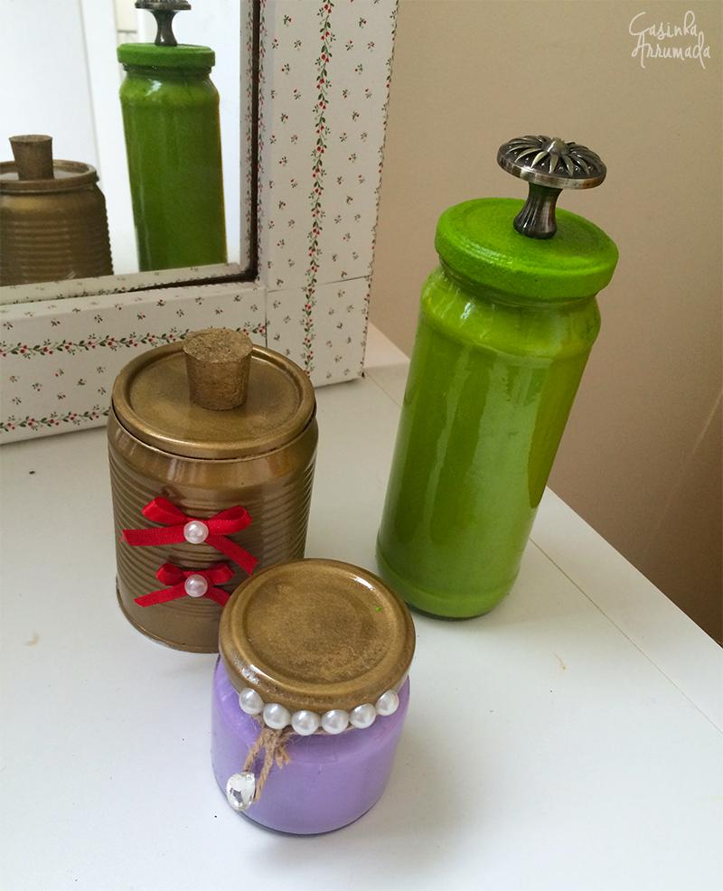 Ideias para reciclar potes de vidro e latas de alimentos 6