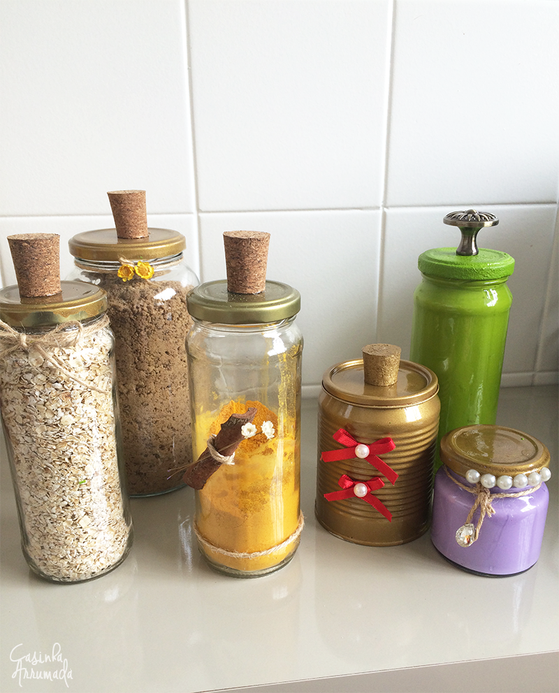 Ideias para reciclar potes de vidro e latas de alimentos 7