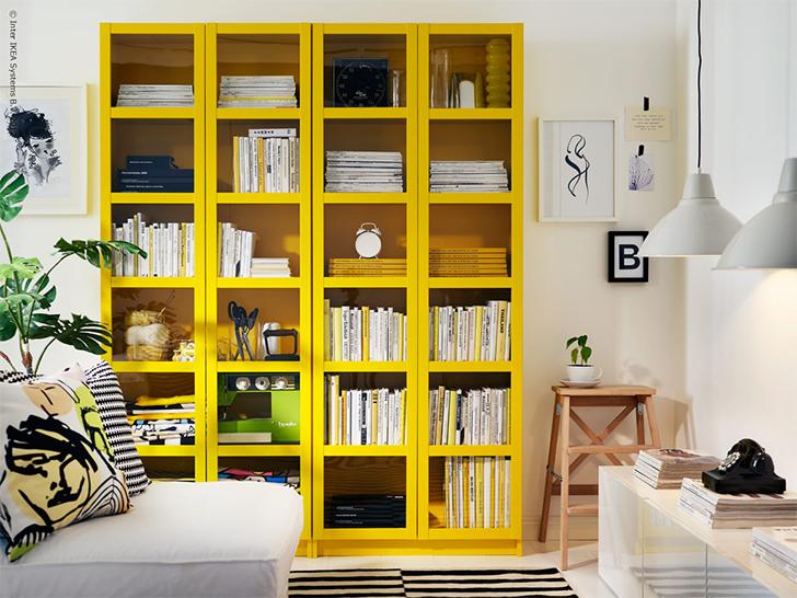 cores na decoração sala amarela 5