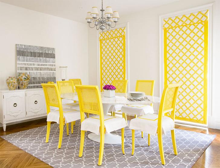 cores na decoração sala amarela 6