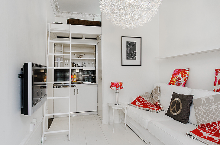 Como decorar e organizar uma kitnet casinha arrumada for Decorar casa 45 m2