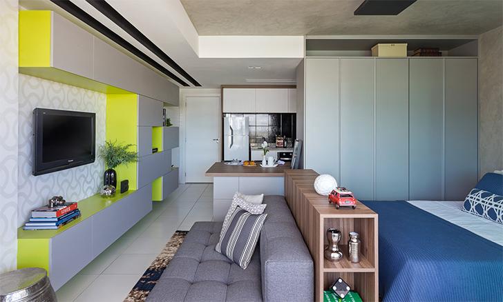 Como decorar e organizar uma kitnet casinha arrumada for Casa minimalista barata