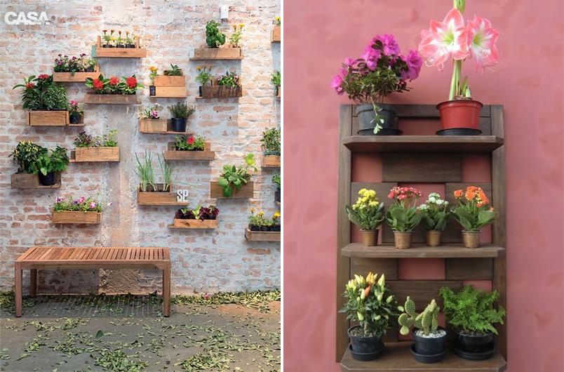 jardim vertical tijolo:Decoração para áreas externas: varandas e jardins mais criativos e