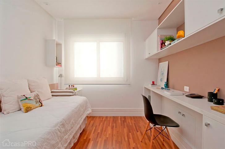 decoracao de interiores quartos femininos:Uma boa maneira de separar visualmente os espaços pode ser colocando